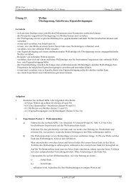 Übung 23 Wellen Überlagerung, Interferenz ... - Thomas Borer