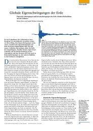 Globale Eigenschwingungen der Erde - Institut für Geophysik