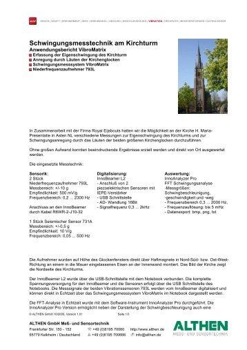 Schwingungsmesstechnik am Kirchturm - ALTHEN BLOG - Althen ...