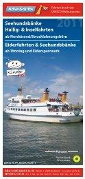 Seehundsbänke Hallig- & Inselfahrten - Adler Schiffe