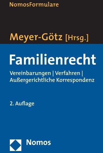 Nomos Familienrecht Vereinbarungen