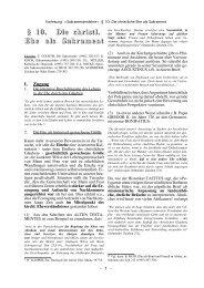 § 10. Die christl. Ehe als Sakrament - Theologie-Skripten