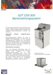 GZT CDS 820 Bareinzahlungssystem