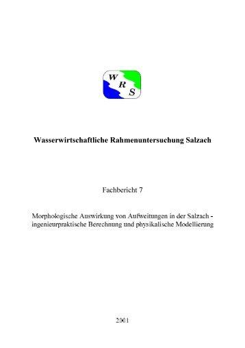 Morphologische Auswirkung von Aufweitungen in der ... - Flussdialog