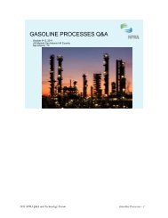 NPRA Gasoline processes Q&A, 2011, excerpt - Chemical & Energy