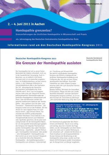 Die Grenzen der Homöopathie ausloten - Verlag Peter Irl