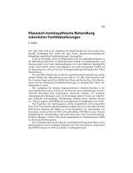 Klassisch-homöopathische Behandlung Männlicher ...