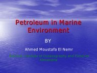 Petroleum Hydrocarbon in Warm and Cold Marine Environment