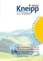 PRoGRAMM 1 | 2012 Kurse | Vorträge - Senioren-Park carpe diem