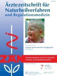 Dyspepsie und Neurodermitis im Säuglingsalter Bei