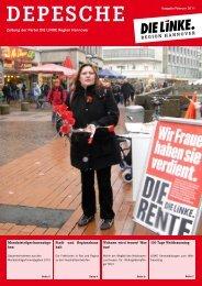 DEPESCHE - Die Linke. Hannover