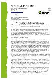 PRESSEMITTEILUNG - BUND