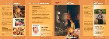 Freude am Backen - Fritz Mühlenbäckerei