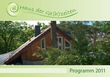 Broschur Haus der Gehzeiten 2011