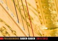 Alte Meister - Junge Solisten - Philharmonie Baden-Baden