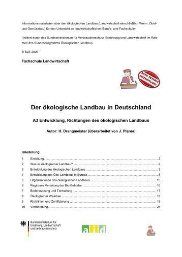 Der ökologische Landbau in Deutschland - Oekolandbau.de