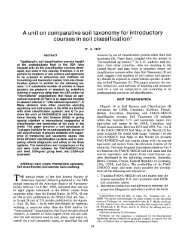 Unit On Comparative Soil Taxonomy for Introductory Courses In Soil ...