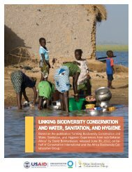 Linking Biodiversity Conservation and Water, Sanitation, and Hygiene