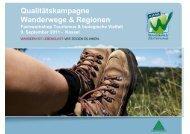 """Qualitätskampagne Wanderwege & Regionen: """"Wanderbares ..."""