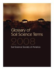 Glossary of Soil Science Terms 2008