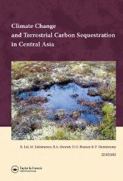 Climate Change and Terrestrial Carbon Sequestration in Central Asia