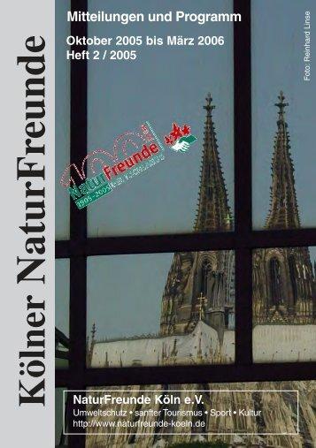Kölner NaturFreunde Mitteilungen und Programm Heft 2 / 2005