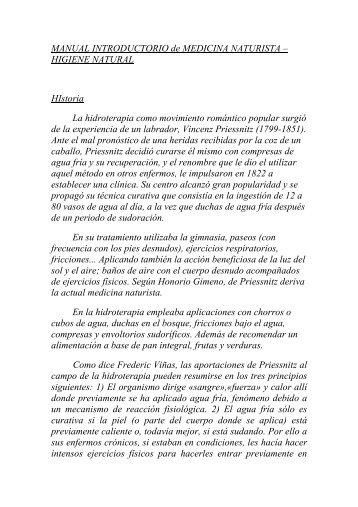 MANUAL INTRODUCTORIO de MEDICINA NATURISTA - INHS ...