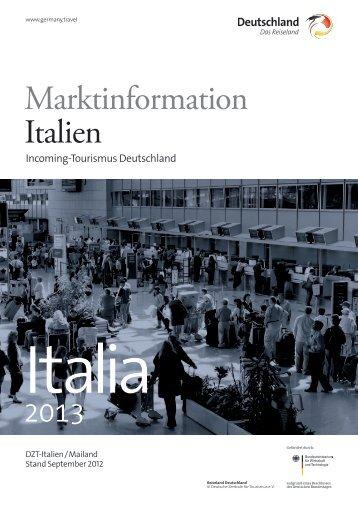 Marktinformation Italien - Germany – travel