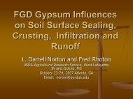 FGD Gypsum Influences on Soil Surface Sealing, Crusting - Library