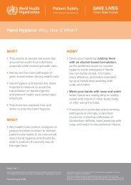 Hand Hygiene: Why, How & When? - World Health Organization