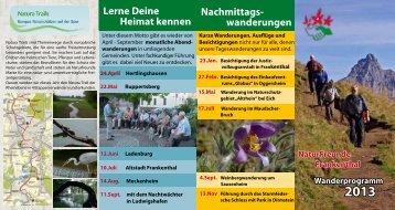 Wanderplan 2012 - bei den NaturFreunden in Frankenthal