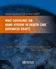 Guidelines on Hand Hygiene - World Health Organization