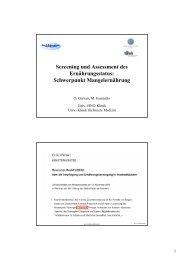 Screening und Assessment des Ernährungsstatus - AKE