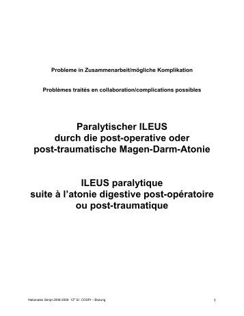 paralytischer darmverschluss