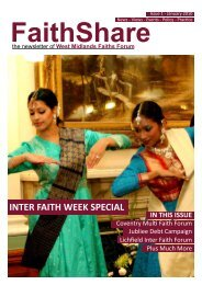 C Inter Faith Week in COvENTRy - the West Midlands Faiths Forum