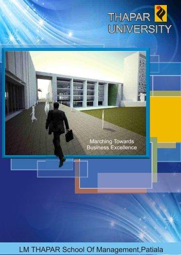 Placement Brochure for Final Placement 2012 ... - Thapar University
