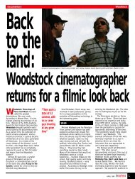 Woodstock cinematographer returns for a filmic look back - Kodak