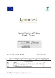 National Monitoring Contexts Country Annexes - MoDeRn