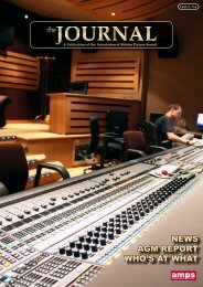 NEWS AGM REPORT WHO'S AT WHAT amps - The Association of ...