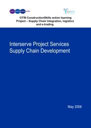 Interserve Project Services Supply Chain Development