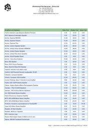 Richmond Film Services - Price List