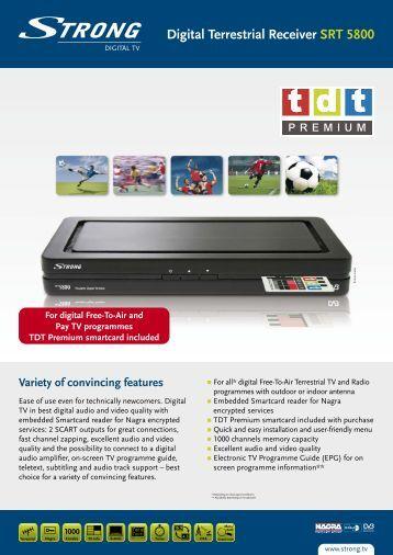 Digital Terrestrial Receiver SRT 5800 - STRONG Digital TV