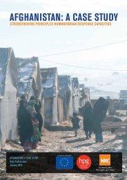 Strengthening Principled Humanitarian Response Capacities