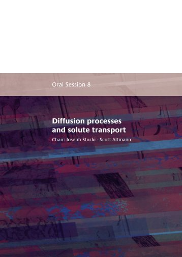 Oral Session 8 : Diffusion processes and solute transport - Andra