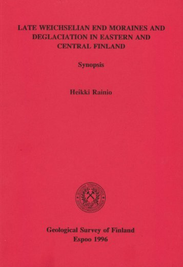 DEGLACIATION IN EASTERN AND CENTRAL ... - arkisto.gsf.fi