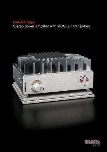 NAGRA MSA Stereo power amplifier with MOSFET transistors