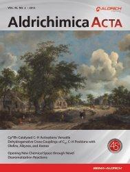 Aldrichchimica Acta Vol. 45, No.2 - Sigma-Aldrich