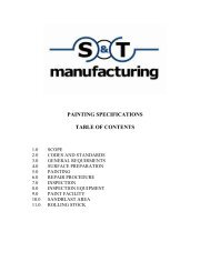 PAINTING SPECIFICATIONS TABLE OF CONTENTS - st-mfg.com