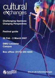 Festival guide 26 Feb - 2 March 2007 DMU Leicester Campus Box ...