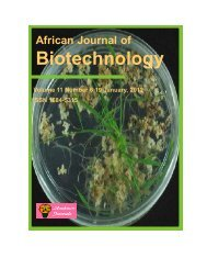 Download Complete Issue (8140kb) - Academic Journals